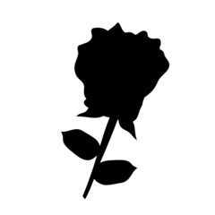 rose silhouettes isolated illustration