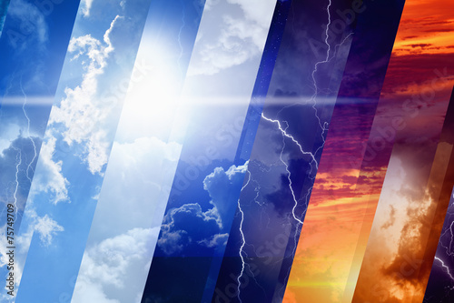 Leinwanddruck Bild Weather forecast concept