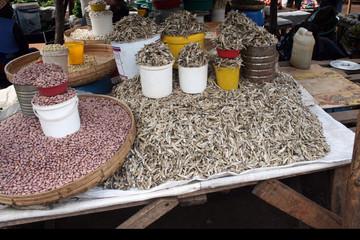 Markt Afrika Trockenfisch