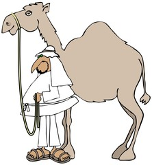 Arab and his camel