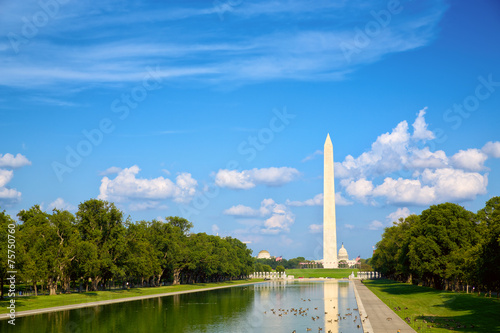 Fotobehang Historisch mon. Washington Monument at National Mall in Washington, DC