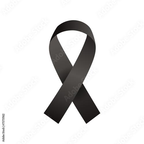 Ruban noir deuil - 75751162