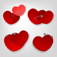 pinned hearts set