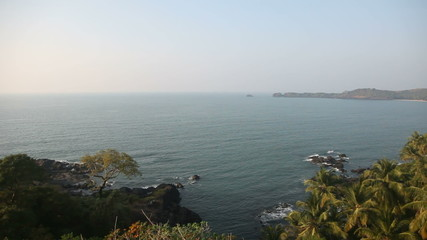 Top view of the bay of the Arabian Sea in India