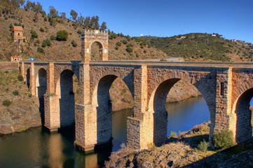 Roman bridge of Alcantara in Spain