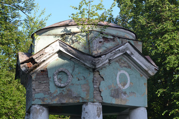 Destroyed gazebo