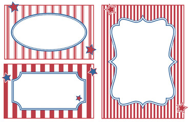 Patriotic or celebration striped frames.