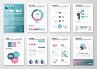 Modern infographic vector concept. Business graphics brochures.