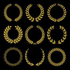Gold Laurel Wreaths