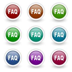 faq web icons colorful set