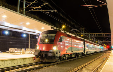 Austrian high-speed train at Feldkirch station