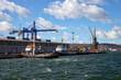 View of the quay Port of Gdynia, Poland.