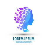 Fototapety Beauty salon. Logo, icon, emblem, template