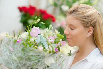 Florist selling flowers