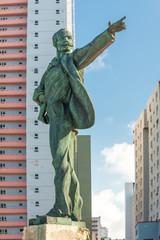 Statue of Jose Marti facing the US Embassy in Havana