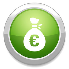 Money bag sign icon. Euro EUR currency symbol