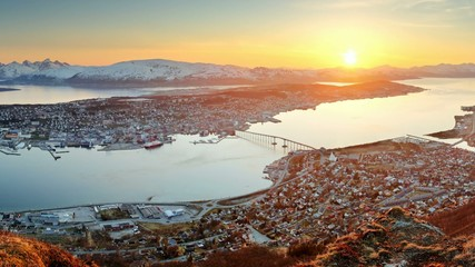 Tromso at sunset, Norway
