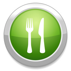 Eat sign icon. Fork and knife