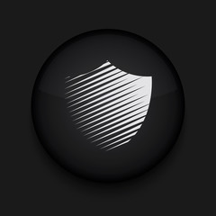 Vector modern shield black circle icon