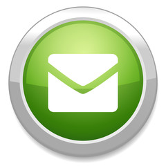 Mail icon. Envelope symbol. Message button