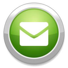 Mail icon. Envelope symbol. Message button