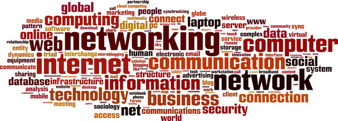 Networking word cloud concept. Vector illustration