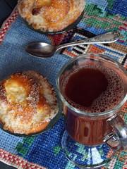 Завтрак с кофе.