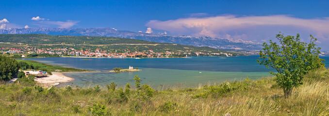 Posedarje bay and Velebit mountain panoramic view