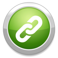 Link sign icon. Hyperlink chain button.