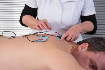 electrode sur le dos