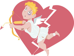 Defeated Cupid and broken heart