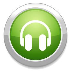 Headphones icon. Earphones button.