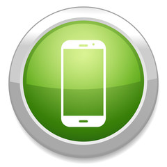 Smartphone icon. Support button. Call center.