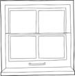 Outline Cartoon Window