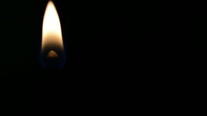match burns in the dark