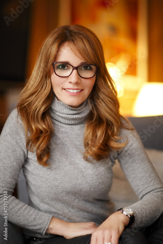 canvas print picture Mature business woman portrait