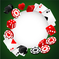 Roulette Vector Casino Background