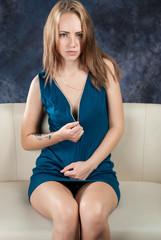 portrait of tempting girl
