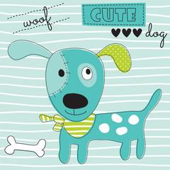 cute woof dog vector illustration