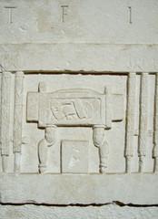 Lapide di età romana (fotografia del 2013)