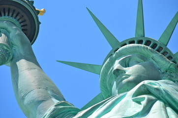 The Statue of Liberty in New York City, USA