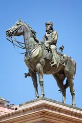 Reiterstatue Giuseppe Garibaldi am Teatro Carlo Felice, Genua