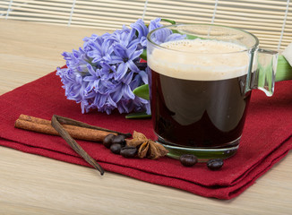 Coffee with flower