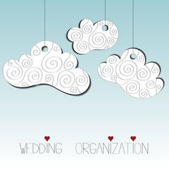 Wedding planner agency card vector