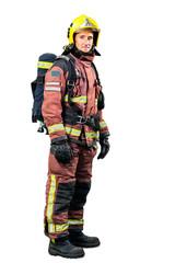 Full length portrait of Fireman.