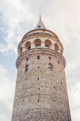 Galata Tower - Istanbul. View from below