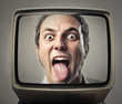 Joking man on tv