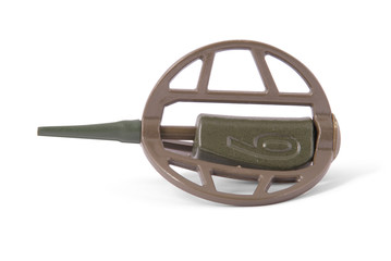 Feeder for fishing in weight sixty gramme (Clipping path)
