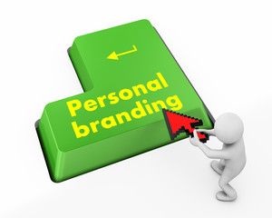 personal branding on button