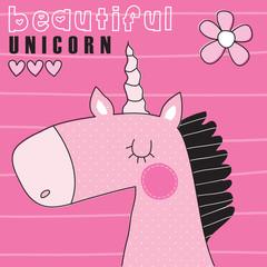 beautiful unicorn vector illustration